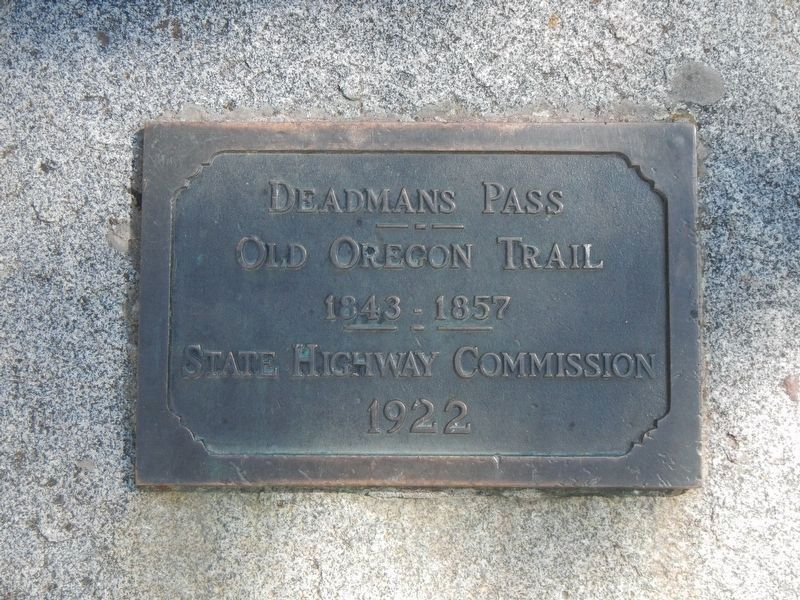 Deadman Pass plaque image. Click for full size.