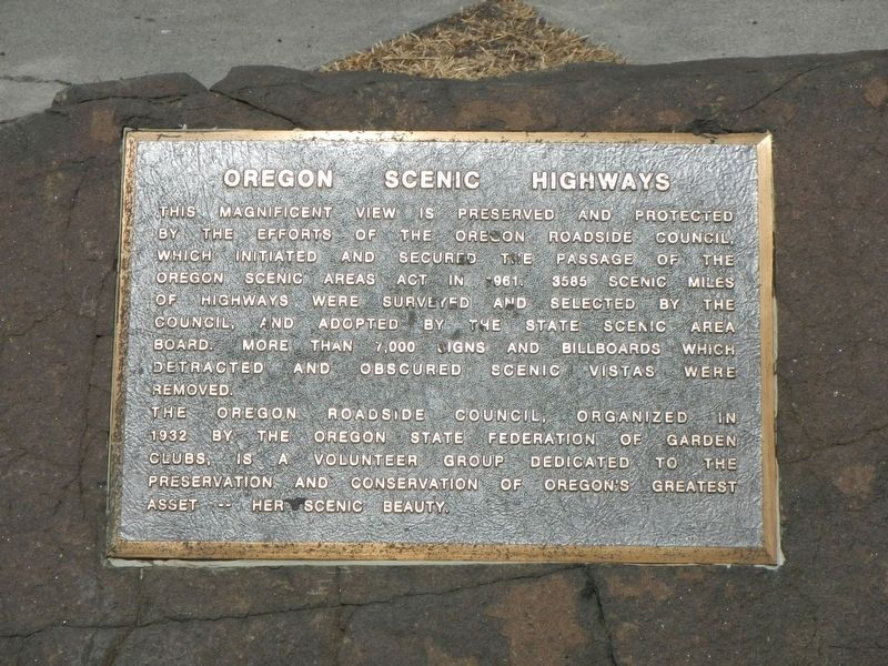 Oregon Scenic Highways Marker image. Click for full size.