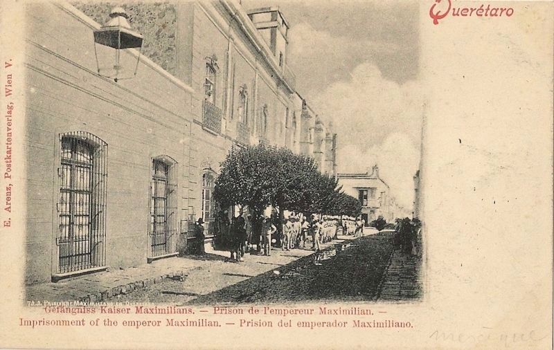 A postcard depicting the Last Prison of Maximilian image. Click for full size.