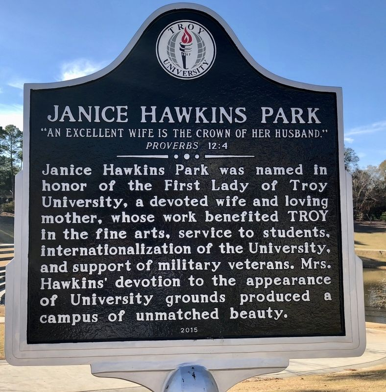 Janice Hawkins Park Marker image. Click for full size.