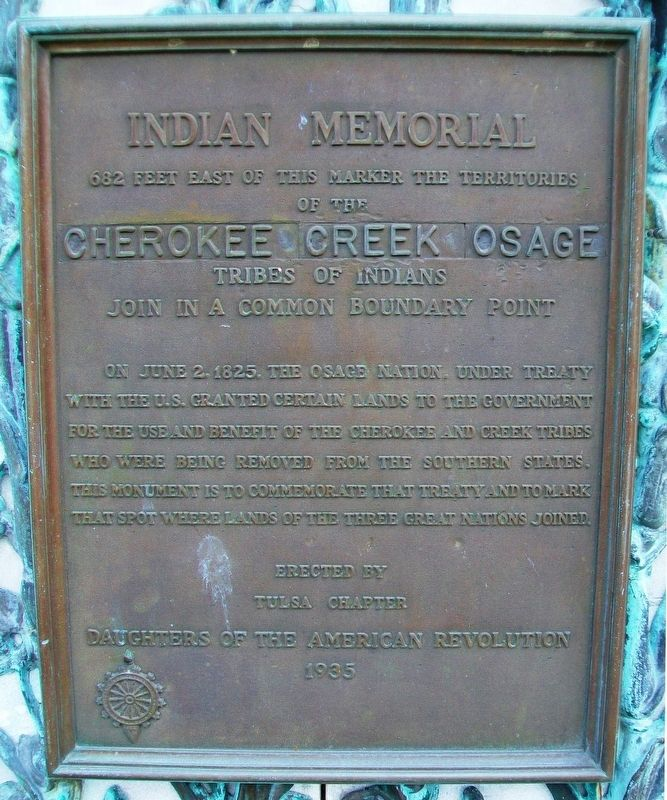 Indian Memorial Marker image. Click for full size.