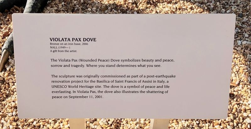 Violata Pax Dove Marker image. Click for full size.