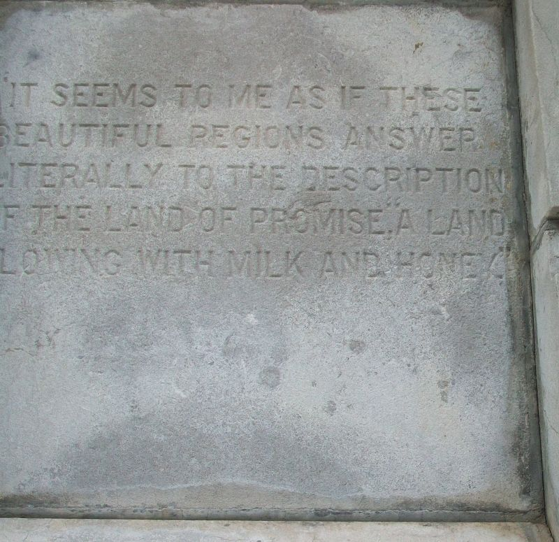 Washington Irving Monument Detail image. Click for full size.