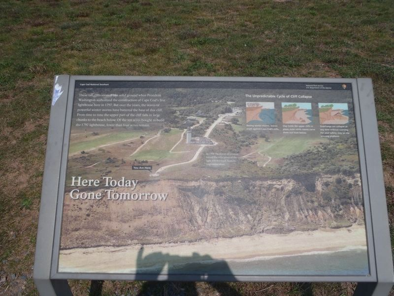 Another nearby marker, explaining the lighthouse's relocation image. Click for full size.