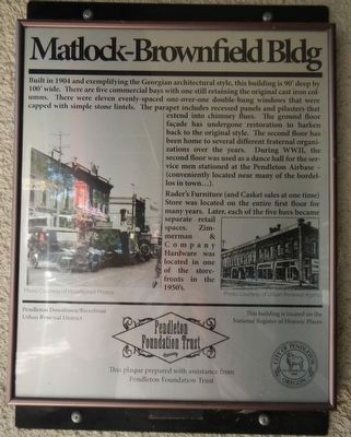 Matlock - Brownfield Bldg Marker image. Click for full size.