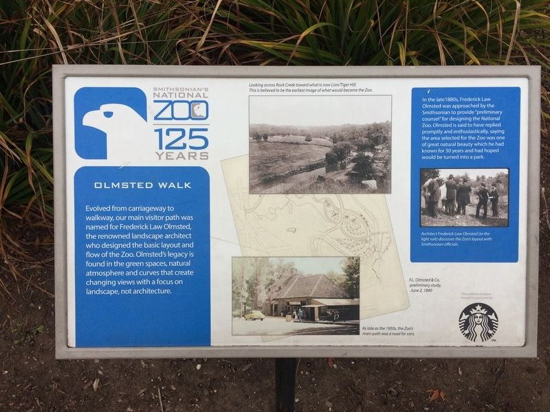 Olmsted Walk Marker image. Click for full size.