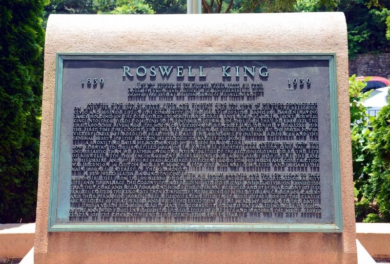 Roswell King Marker image. Click for full size.