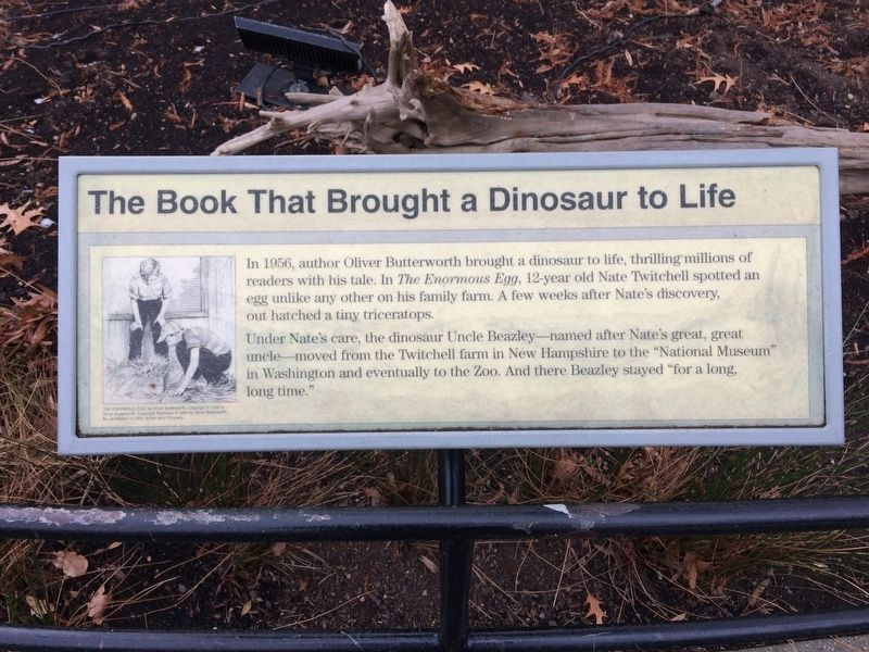 The Book That Brought a Dinosaur to Life Marker image. Click for full size.