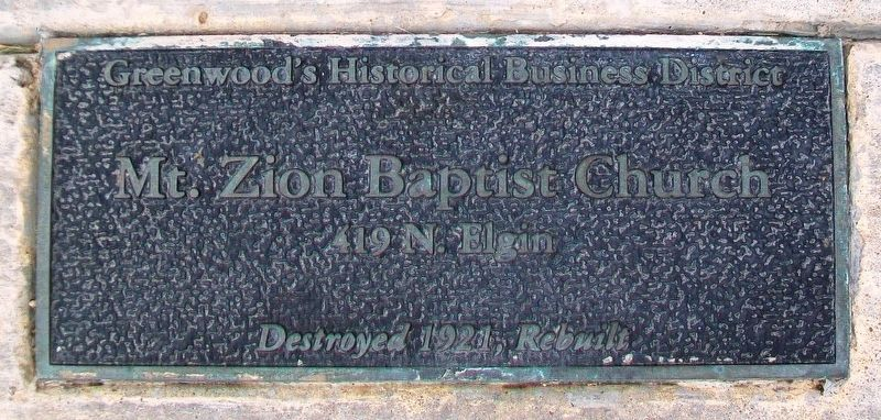 Mt. Zion Baptist Church Marker image. Click for full size.