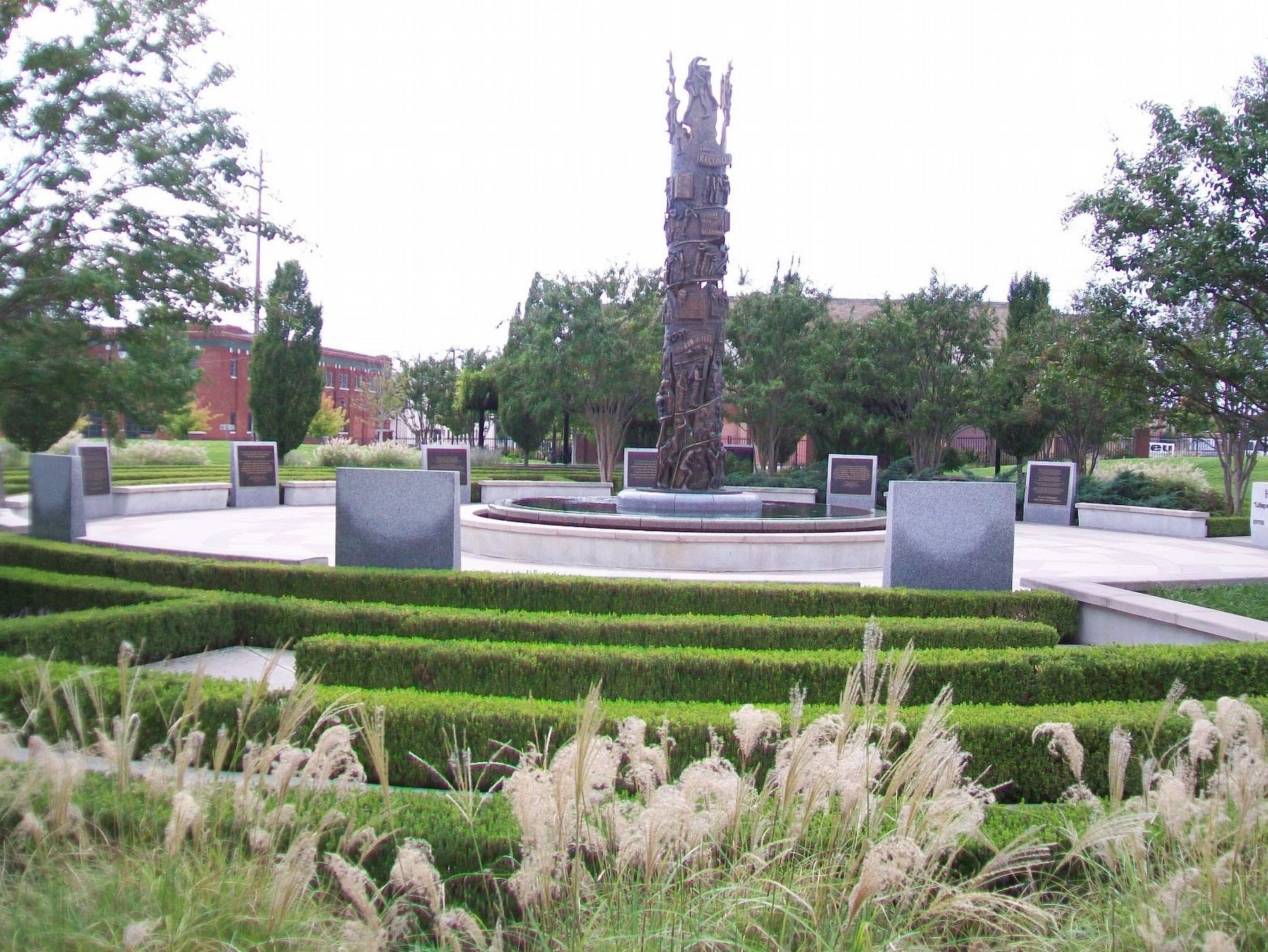 John Hope Franklin Reconciliation Park image. Click for full size.