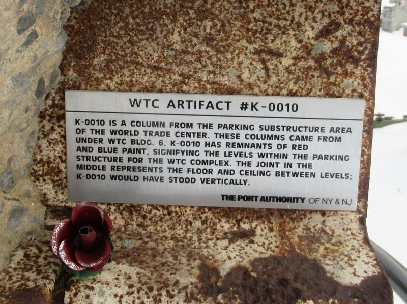 WTC Artifact #K-0010 Marker image. Click for full size.