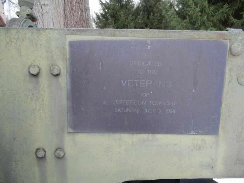 Plaque on the Howitzer image. Click for full size.