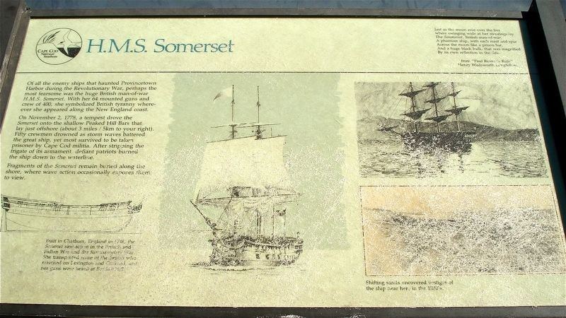 H.M.S. Somerset Marker image. Click for full size.