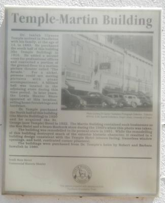 Temple-Martin Building Marker image. Click for full size.