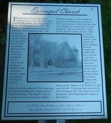 Episcopal Church Marker image. Click for full size.