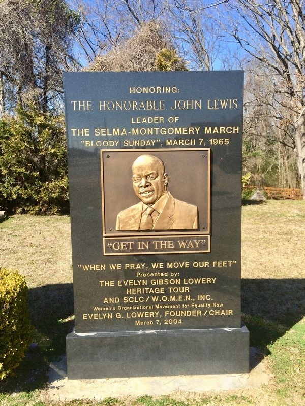 The Honorable John Lewis Monument image. Click for full size.