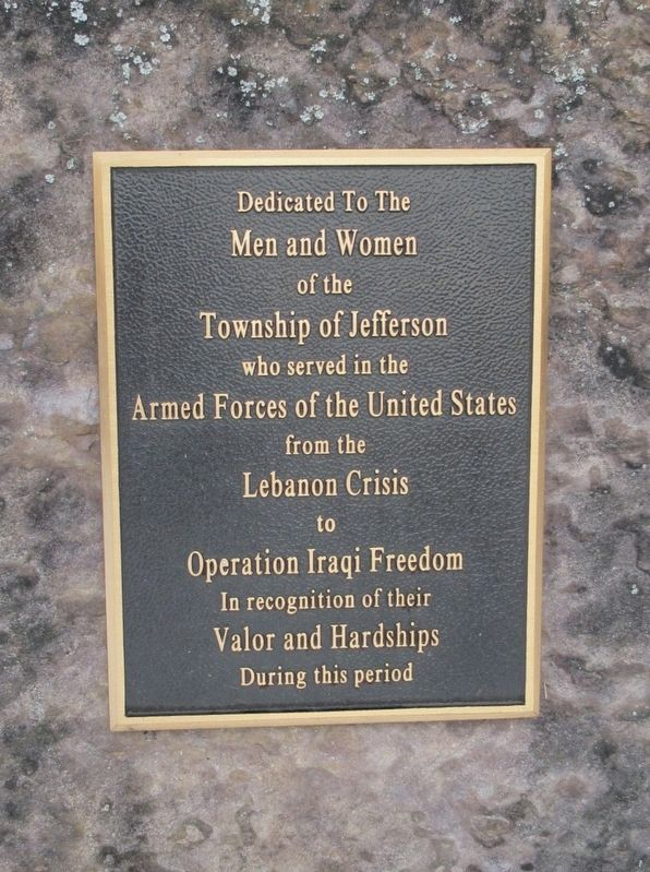 Township of Jefferson Veterans Monument image. Click for full size.