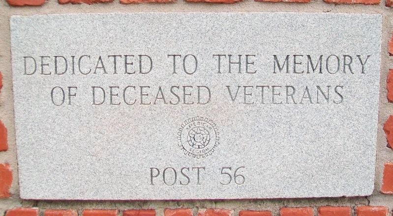 War and Veterans Memorial<br> Deceased Veterans Marker image. Click for full size.
