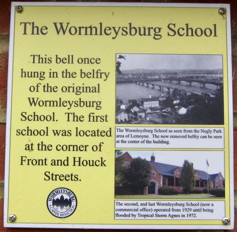 The Wormleysburg School Marker image. Click for full size.