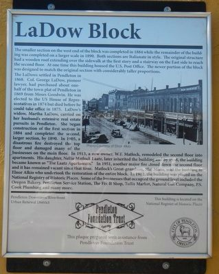 LaDow Block Marker image. Click for full size.