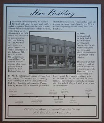 Haw Building Marker image. Click for full size.