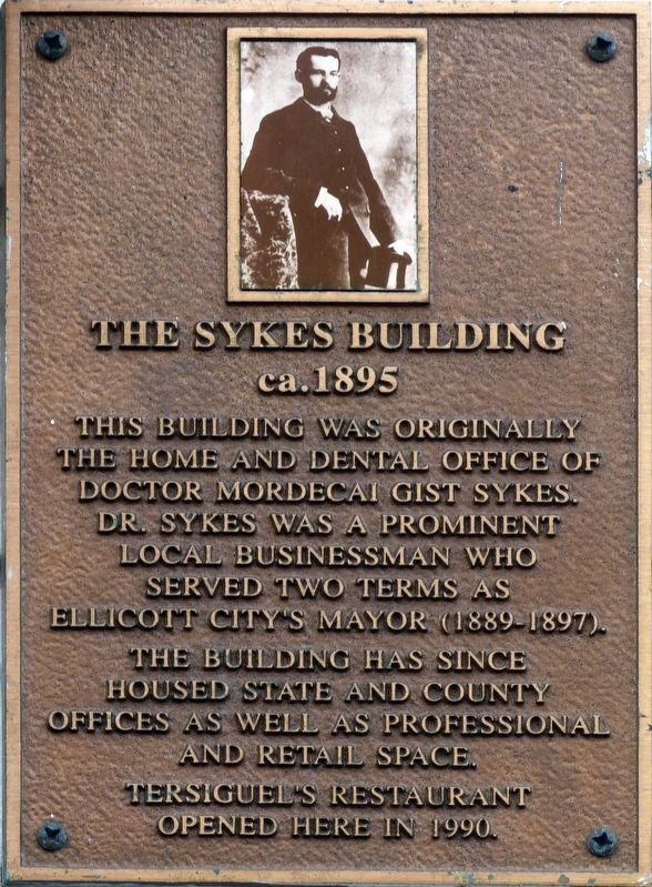 The Sykes Building Marker image. Click for full size.