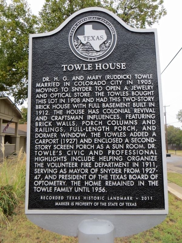 Towle House Marker image. Click for full size.