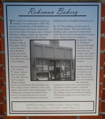 Rohrman Bakery Marker image. Click for full size.