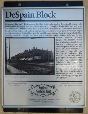 DeSpain Block Marker image. Click for full size.