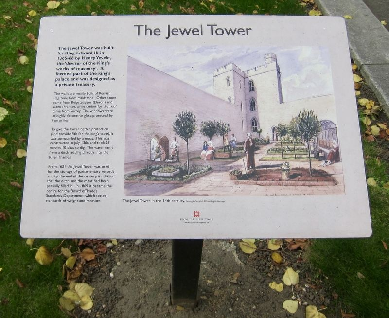 The Jewel Tower Marker image. Click for full size.