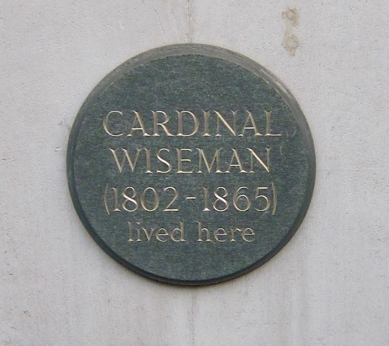 Cardinal Wiseman Marker image. Click for full size.