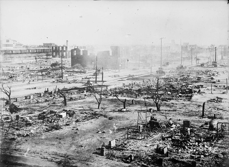 <i>Ruins after the race riots, Tulsa, Okla.</i> image. Click for full size.