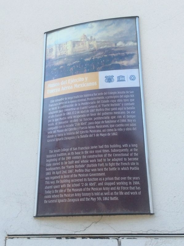 The Museum of the Mexican Army and Air Force Marker image. Click for full size.