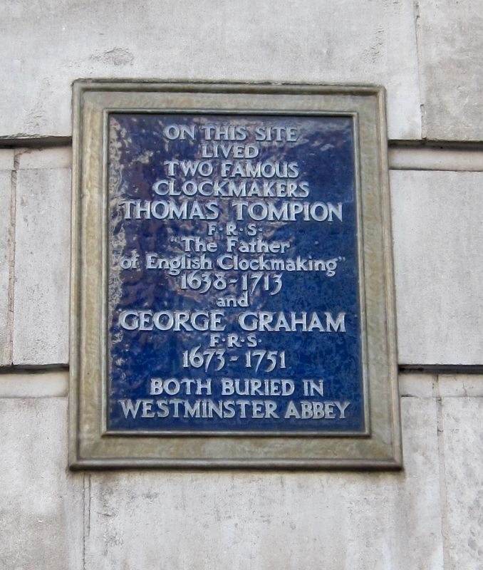 Two Famous Clockmakers Marker image. Click for full size.