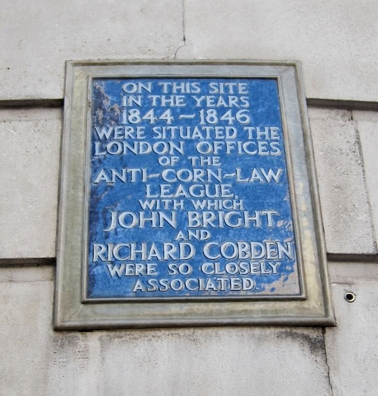 Anti-Corn-Law League Marker image. Click for full size.