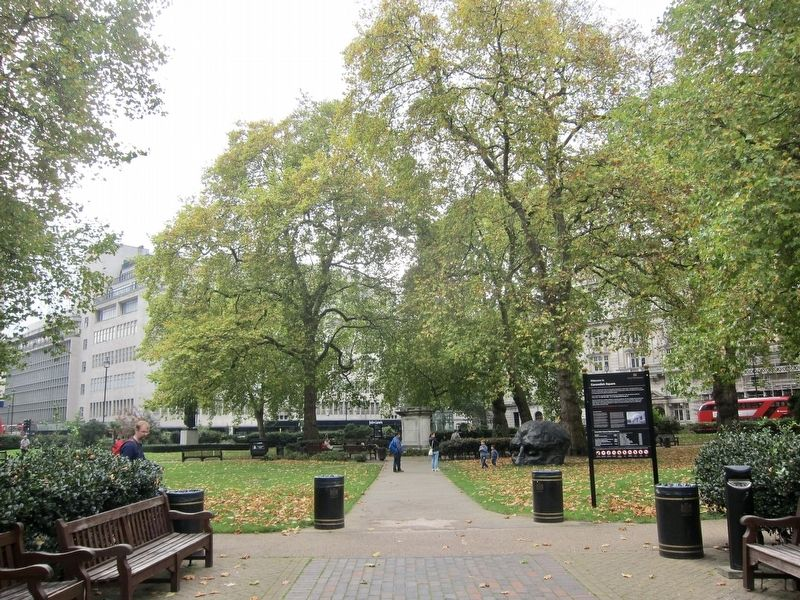 Cavendish Square and Marker - Wider View image. Click for full size.