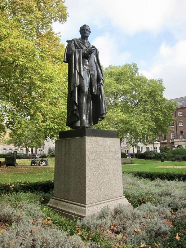 William George Frederick Cavendish-Betinck Statue in Cavendish Square Gardens image. Click for full size.