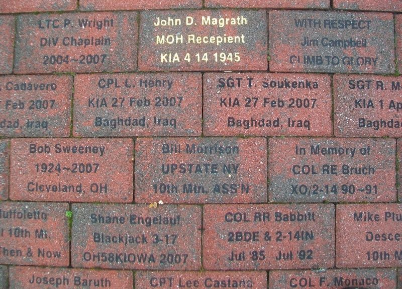 10th Mountain Division Memorial Park Pavers image. Click for full size.