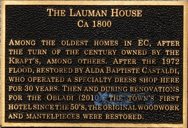 The Lauman House Marker image. Click for full size.