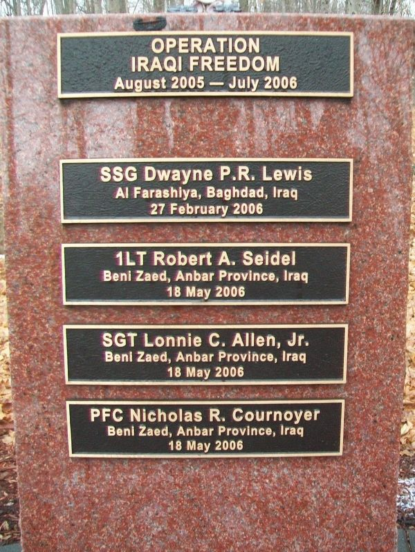 2d Battalion, 22nd Infantry Regiment Memorial Honored Dead image. Click for full size.