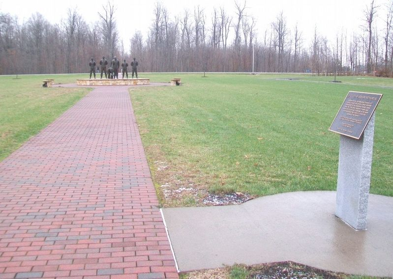 Fallen Warrior Memorial and Marker image. Click for full size.
