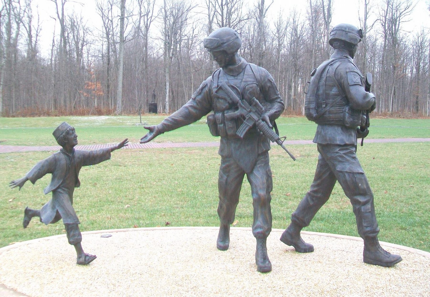 Fallen Warrior Memorial image. Click for full size.