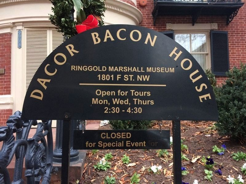Dacor Bacon House sign image. Click for full size.