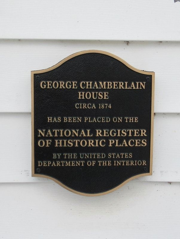 George Chamberlain House Marker image. Click for full size.
