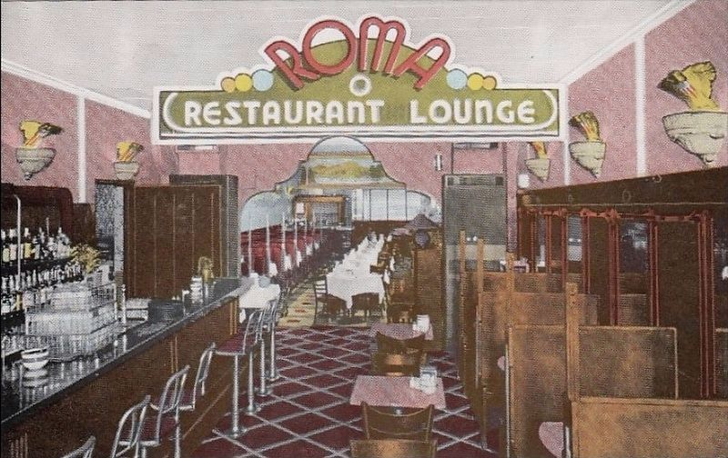 Roma Restaurant Postcard image. Click for full size.