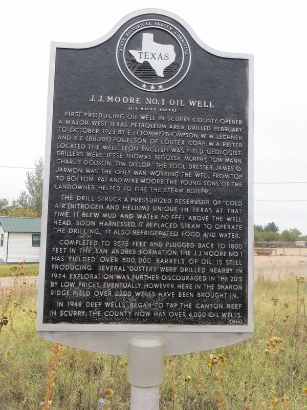 J. J. Moore No. 1 Oil Well Marker image. Click for full size.