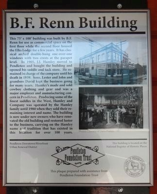 R.F. Renn Building Marker image. Click for full size.
