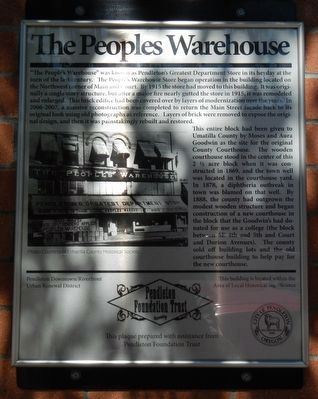 The Peoples Warehouse Marker image. Click for full size.