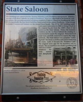 State Saloon Marker image. Click for full size.
