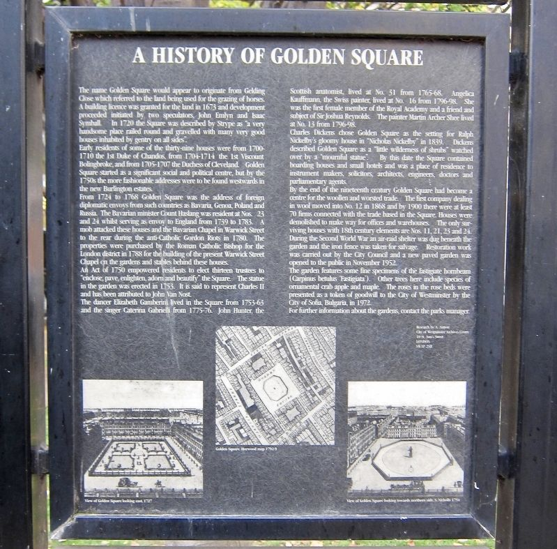A History of Golden Square Marker image. Click for full size.